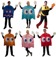 spirit halloween costumes for men pac man deluxe group costume set of 6 icn 600pacman b6 331 99