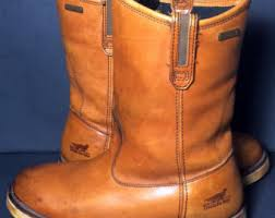 womens work boots size 9 wing boots 9 etsy