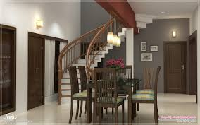 Cool Home Interior Designs Dining Kitchen Living Room Interior Designs Kerala Home Design For