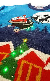 sleigh ride light up christmas jumper unisex cheesy christmas