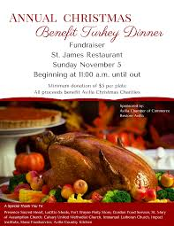 annual christmas benefit turkey dinner avilla indiana chamber of
