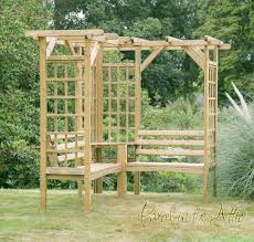 forest sorrento wooden garden seated arbour garden seat