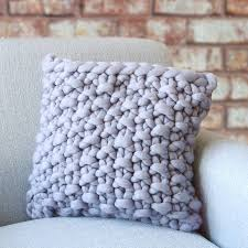Cosy Cushions Cullompton Classic Chunky Knitted Panel Cushion By Lauren Aston