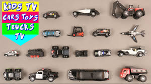truck car black learn black color for kids children babies toddlers with bus truck
