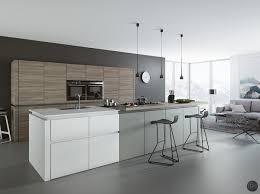 Grey Modern Kitchen Design Kitchen Design Open Plan Kitchen Design Bar Stools Bring A Hint