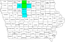 Iowa Counties Map The Odd Case Of Iowa U0027s Largest County Twelve Mile Circle