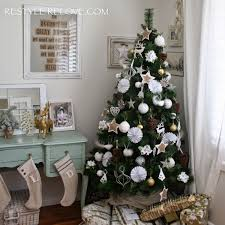 our rustic green christmas tree