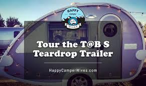 t b s teardrop trailer camper our mini rv tour