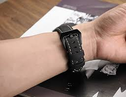 leather wrist strap bracelet images Garmin fenix 5 watch band shangpule 22mm genuine leather strap jpg