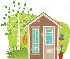 cute garden shed stock vector art 635809682 istock