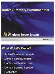 fundamentos del directorio activo ad active directory