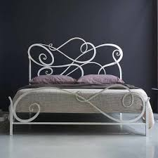 bedroom wall brown pain wrought iron bed king simple design frame