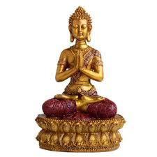 with folded shakya buddha statue ornaments