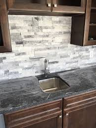 Pictures Of Stone Backsplashes For Kitchens Stacked Stone Is A Great Wet Bar Backsplash Home Bar