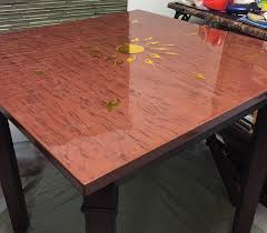 Two Part Epoxy Resin Bar Top Clear Bar Top Epoxy Table Top Epoxy Resin Coating Wood Tabletop