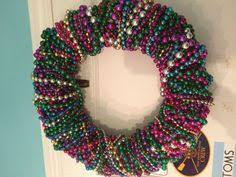 mardi gras bead wreath mardi gras bead wreath tutorial use green and gold for