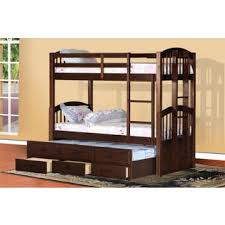 Bunk Beds With Trundle Furniture Of America Pierce Twin Over Twin Bunk Bed With Twin