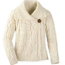 irish aran sweater cardigan a313 natural teresa nix pinterest
