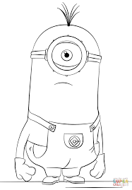 eyed minion tim coloring free printable coloring pages
