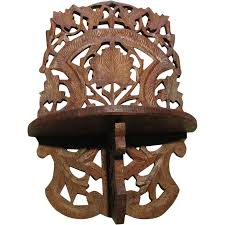 vintage filigree carved wooden wall shelf from tomjudy on ruby