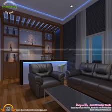 home theater bar area bedroom and kids room kerala design media
