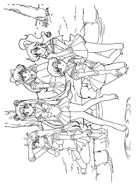 sailor moon coloring pages the inner senshi pinterest sailor