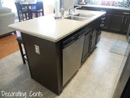 installing kitchen island electrical outlet to dishwasher countertop appliance