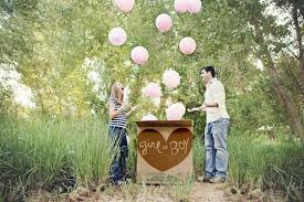 gender reveal balloons in a box gender reveal party ideas project nursery