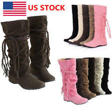 s slouch boots canada wedge suede slouch boots for ebay