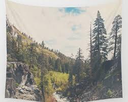 Wilderness Home Decor Wilderness Tapestry Etsy