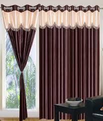 tanishka fabs brown4u eyelet window curtains set of 2 4 5 feet