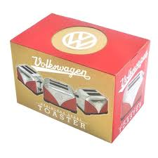 official vw red volkswagen logo design kitchen toaster 2 slice