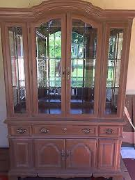 Solid Wood Buffet And Hutch American Drew Solid Wood Buffet With Hutch China Cabinet With