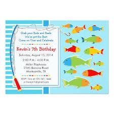 birthday invites best fishing birthday party invitations design