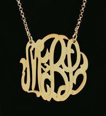 2 inch monogram necklace 1 1 2 inch gold vermeil monogram necklace purple mermaid designs