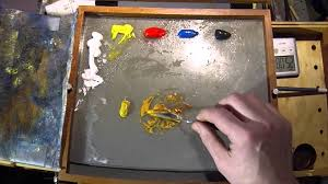 How To Make Light Brown Paint by How To Mix Yellow Ochre Color Mixing Exercises Youtube