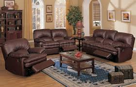 Top Grain Leather Reclining Sofa Brown Top Grain Leather Match Recliner Sofa Loveseat Chair