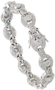 silver antique bracelet images Tennis bracelets jpg