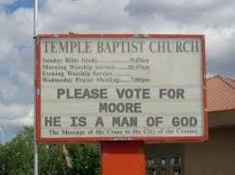 Church Sign Meme - fact check did an alabama church display a sign comparing roy moore