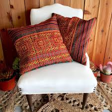 Hippy Home Decor Handmade Vintage Hmong Pillow Cases Modern Day Hippie