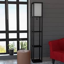 delano douglas floor lamp etagere organizer storage shelf free