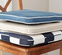 Tie On Chair Cushions Chair Cushions U0026 Slipcovers Pottery Barn
