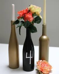 Diy Wine Bottle Vases Diy Wine Bottle Centerpiece Momtastic