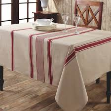 farmhouse style table cloth cotton and linen red striped table cloth kitchen and dining stuff