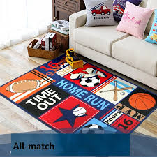 Sports Area Rug Excellent Sports Area Rugs Ideas With Regard To Ordinary Themed