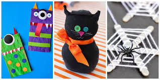 Halloween Decorations For Cakes by 26 Easy Halloween Crafts For Kids Best Family Halloween Craft Ideas