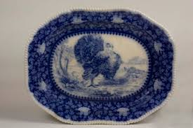 thanksgiving platter flow blue turkey platter the collected room by kathryn greeley