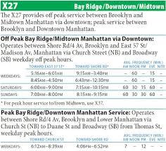 Q44 Bus Map X27 Bay Ridge Midtown Manhattan