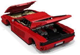 lego ferrari truck lego ideas ferrari testarossa 512 tr