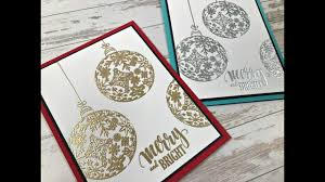 merry bright ornament card